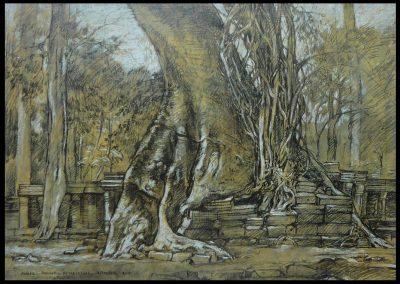 Angkor, Phimeanakas-Tempel 2000 39,6x57,2 cm