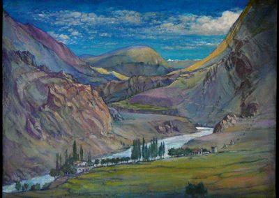 Ladakh Alchi-Chulungtse 1997-2001 Akryl 59x80 cm