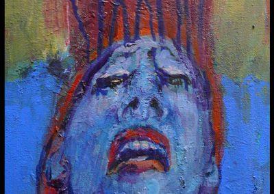 Dusche 2008 30x24 cm Acryl