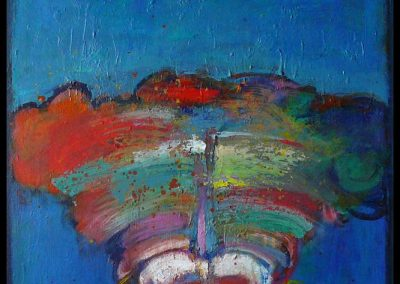 Jeck mit Schleier 2012 Akryl 90x60 cm