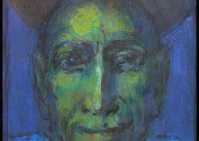 Porträt I 2011 Acryl auf Papier 20 x 14,5 cm